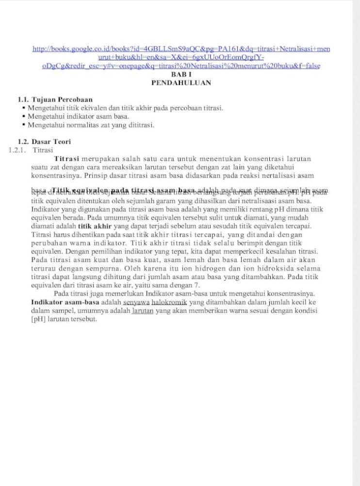 Laporan Titrasi 2 Docx Pdf Document