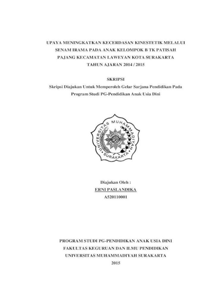 Upaya Meningkatkan Kecerdasan Kinestetik Melalui Senam Halaman Depan Pdf Upaya Meningkatkan Kecerdasan Pdf Document
