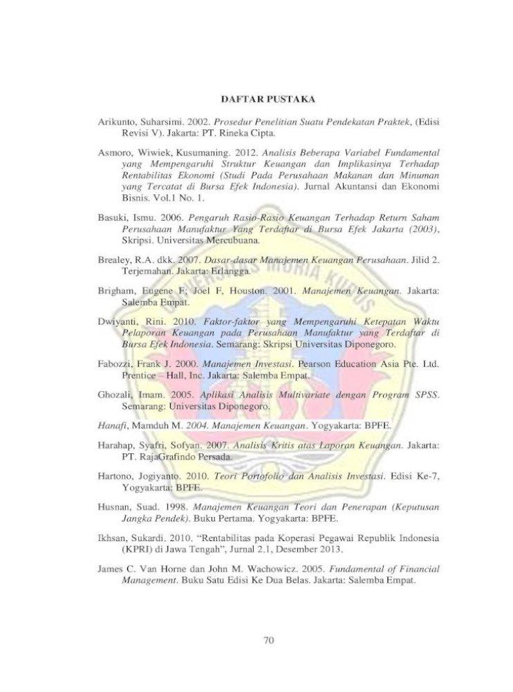 Daftar Pustaka Skripsi Akuntansi لم يسبق له مثيل الصور Tier3 Xyz